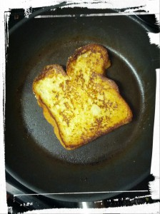 Frying me up some French toast!