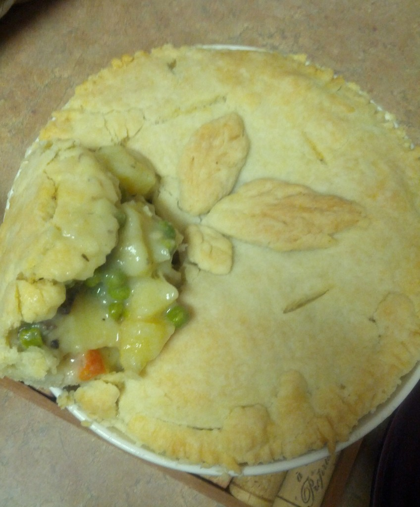 Veggie Pot Pie, in an all-butter crust. So good!