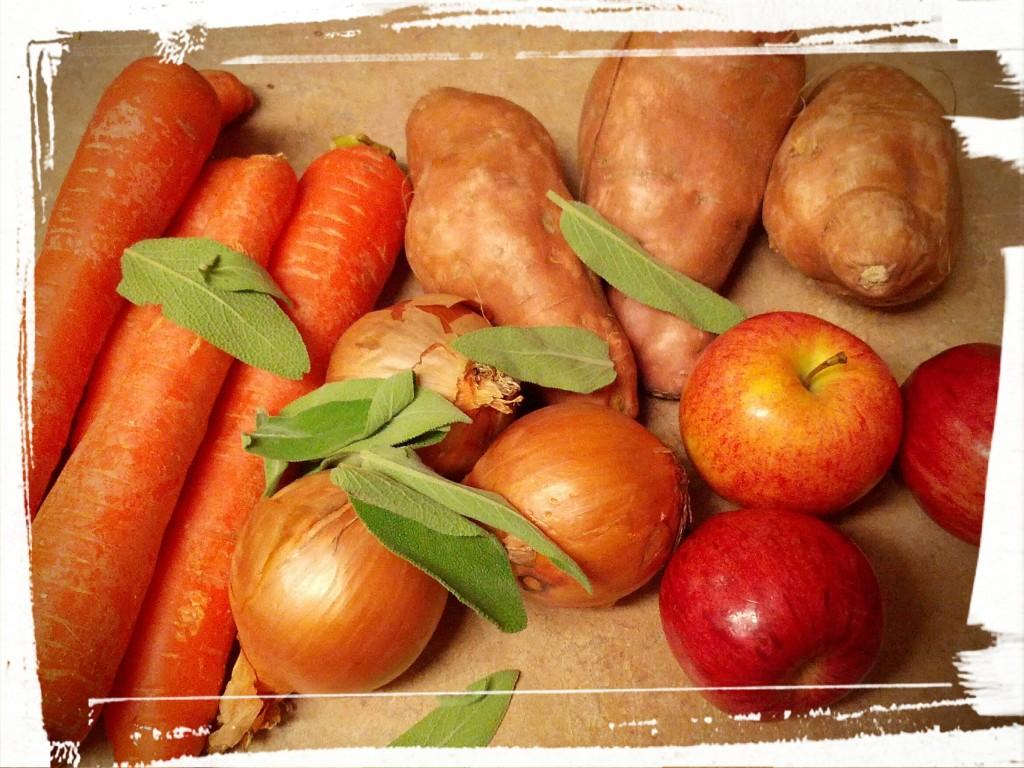 Still Life in Harvest. Sans pearl onions.