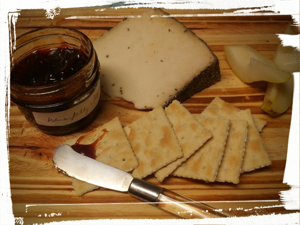 Serve with a cheese plate. Eat with gusto!