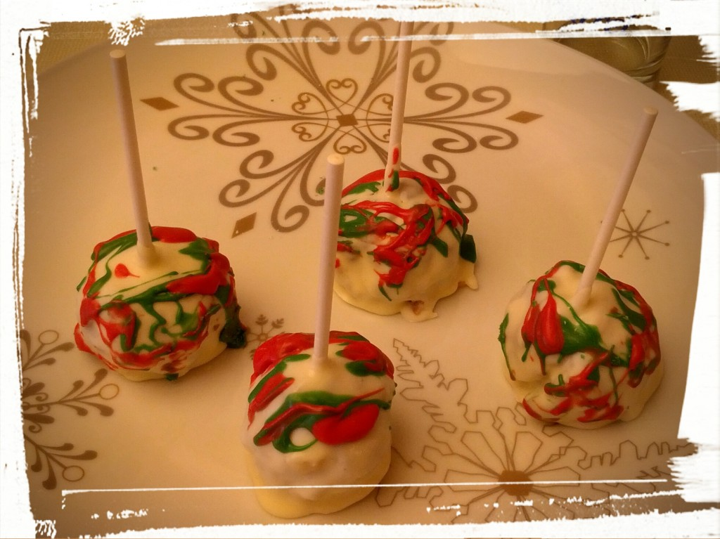 Fruitcake! In cake pop form.