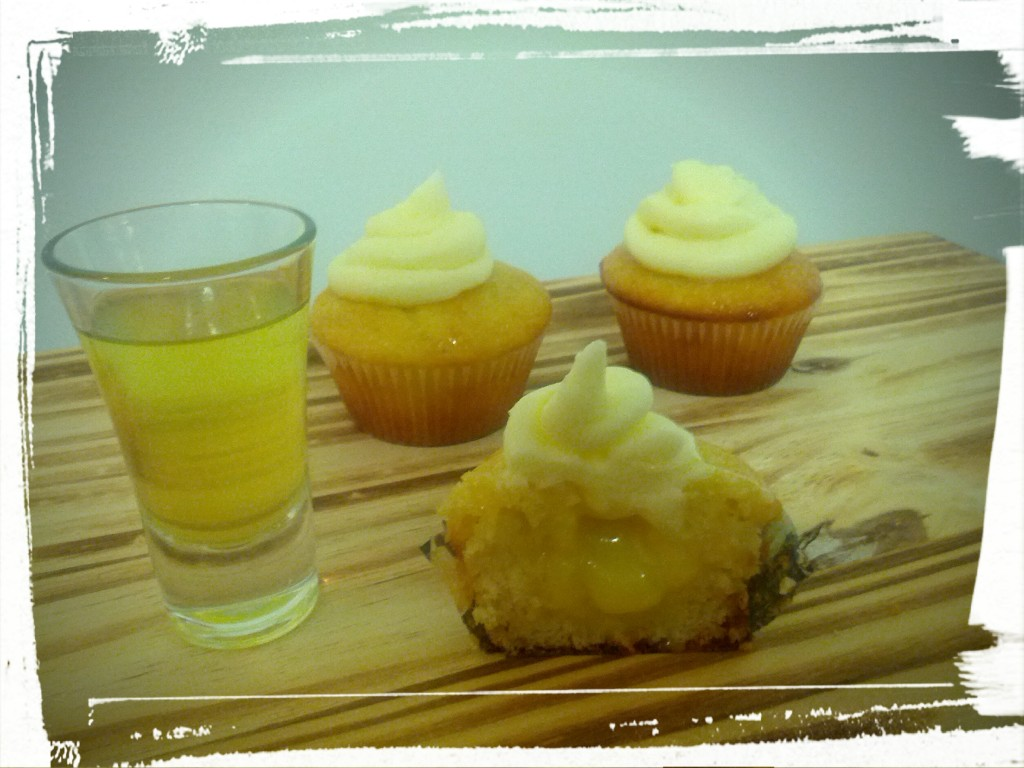 Goes down smoothly! (Both the limoncello shot and the cupcakes.)