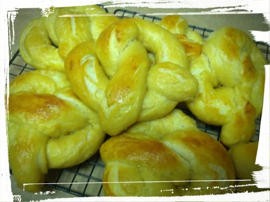 Pretzels! Nummy, nummy pretzels!