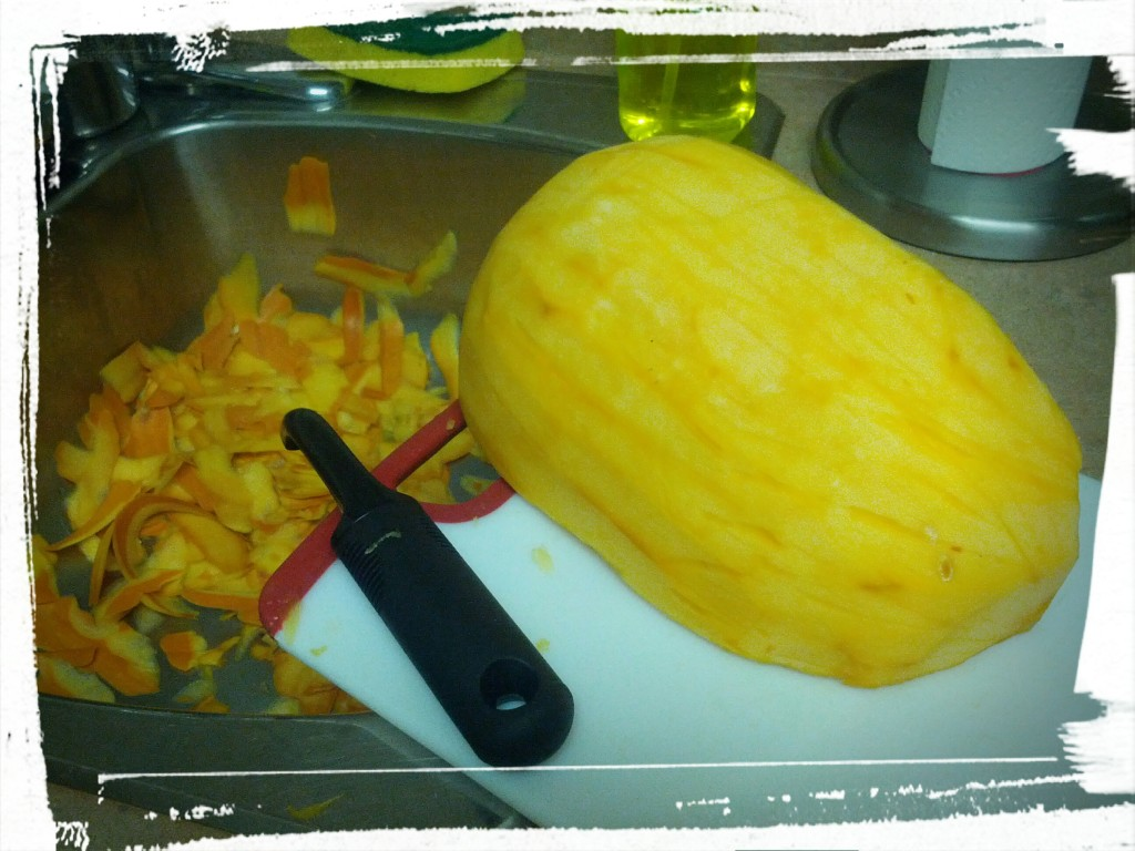 pumpkin peeled