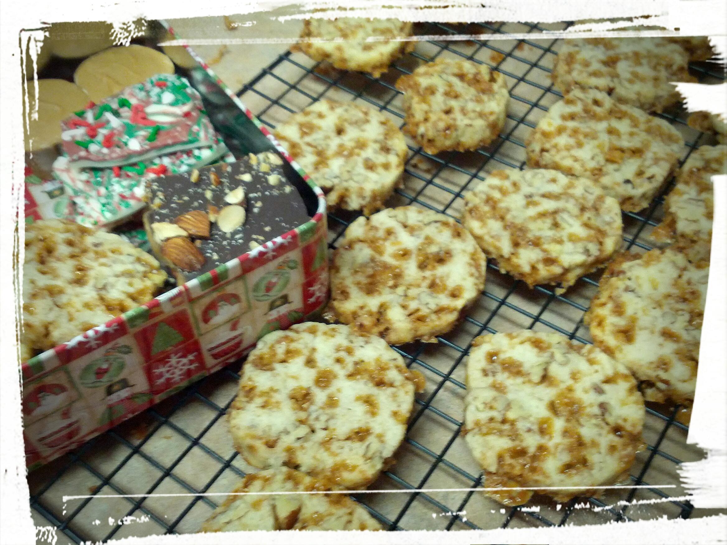 Toffee Pecan Refrigerator Cookies Approaching Food