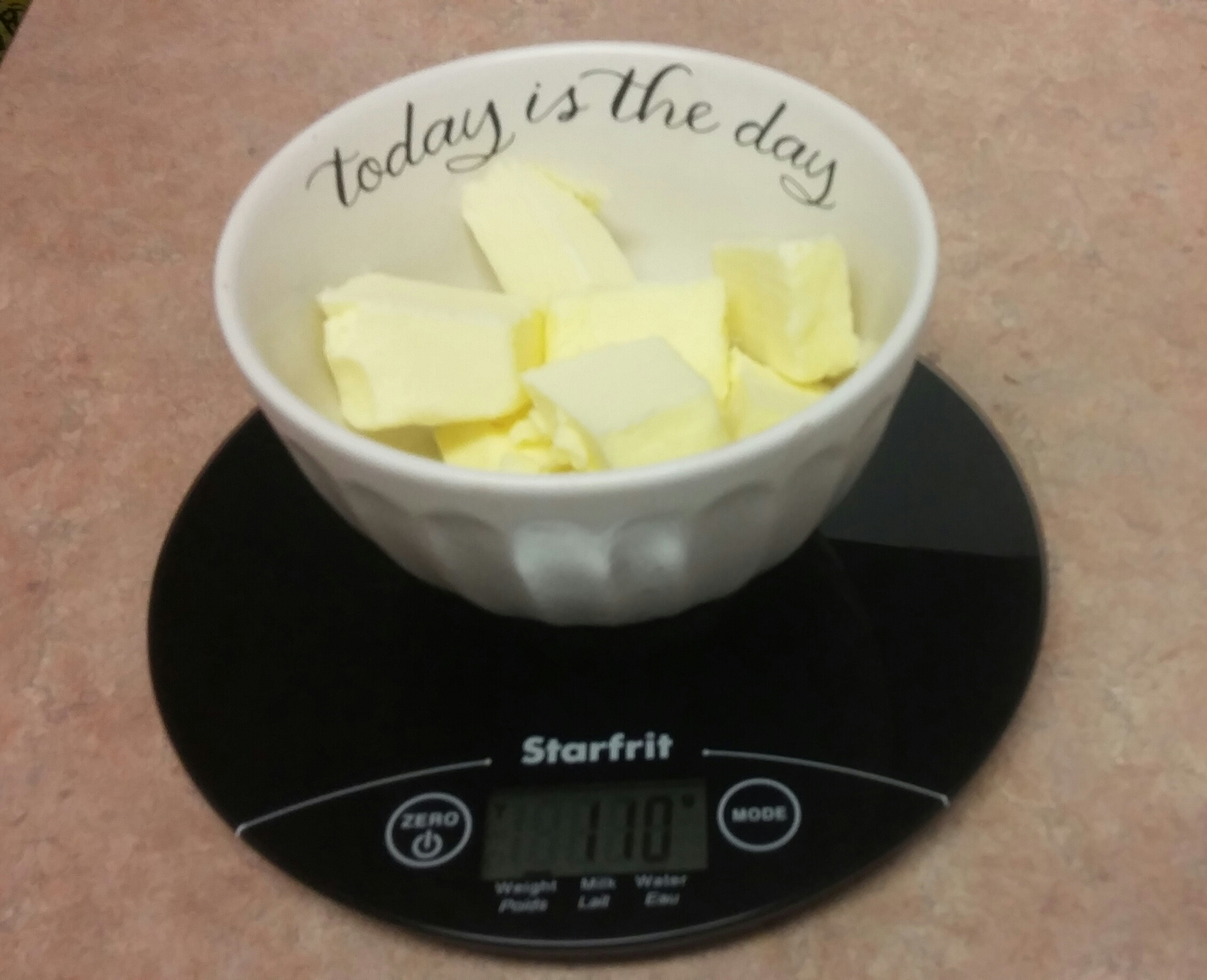 I eyeballed the butter to within 3 grams of the weight needed. *does victory dance*