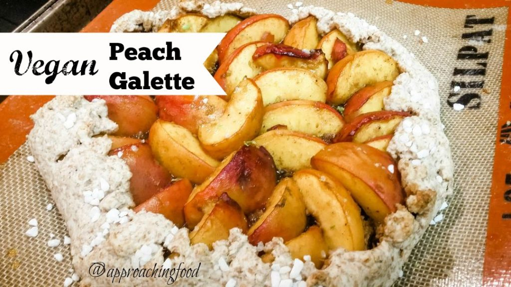 Juicy peaches wrapped in a healthy, vegan pastry. Yum!
