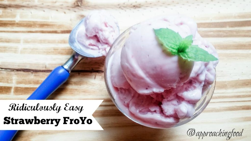 Luscious scoops of low-fat, preservative-free Stawberry FroYo!