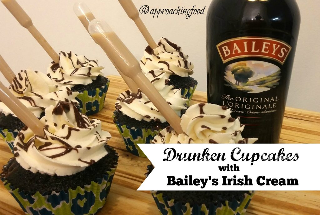 Chocolate cupcakes with Bailey's infused buttercream and an alcoholic pipette!