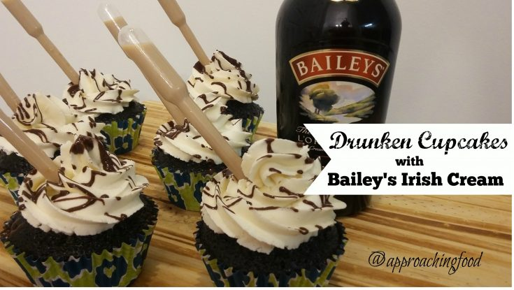 Drunken Cupcakes with Bailey's Irish Cream