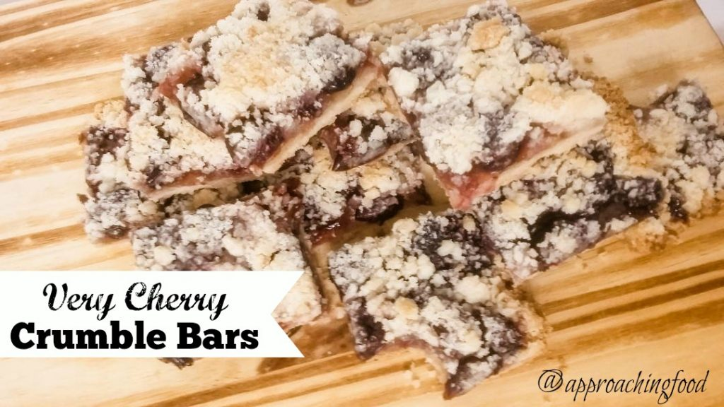 A fruit bar with a shortbread base and a crumble topping!