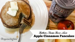 Pancakes that you blend in a blender, with apple and cinnamon? Yes, please!