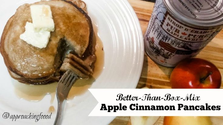 Better-Than-Box-Mix Apple Cinnamon Pancakes