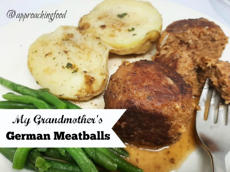 My Grandmother's German Meatballs
