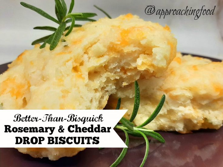 Better-Than-Bisquick Cheddar & Rosemary Drop Biscuits