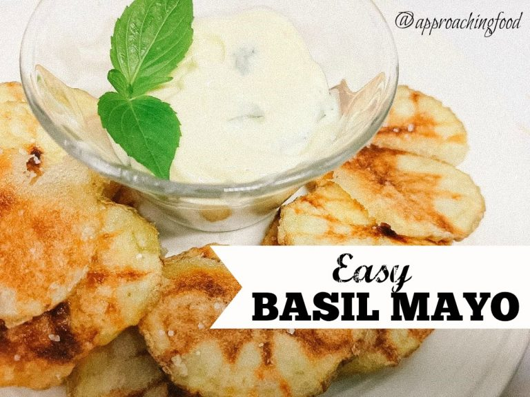 Creamy basil mayo tastes great with homemade potato chips!