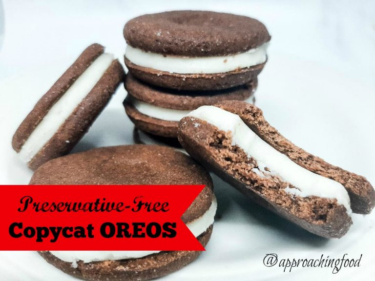 Delicious preservative-free creme-filled chocolate sandwich cookies, aka copycat Oreos!