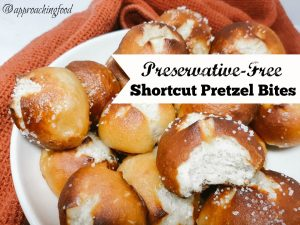 A bowlful of freshly baked pretzel bites solves just about anything!