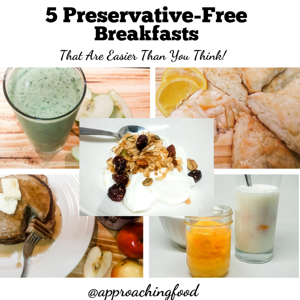 5 easy, healthy, and delish preservative-free breakfast recipes!