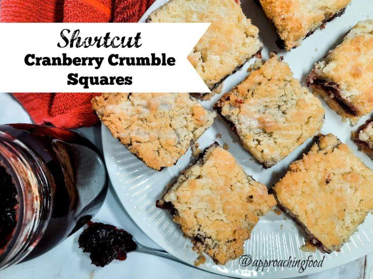 Shortcut Cranberry Crumble Squares