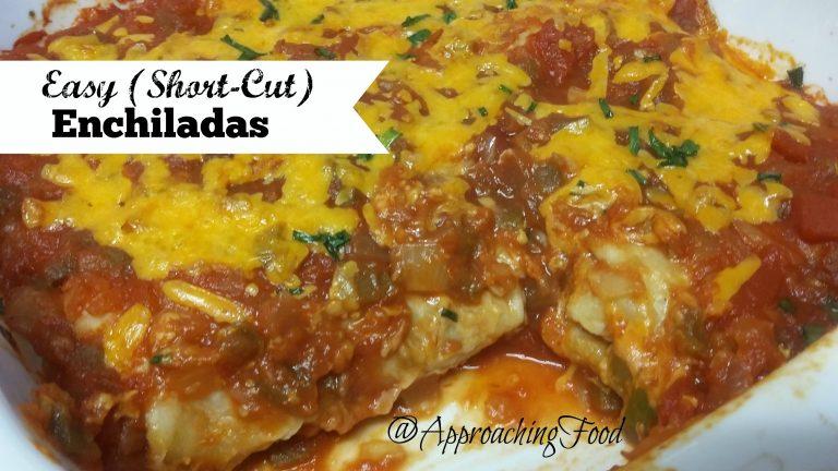 Platter of cheesy enchiladas