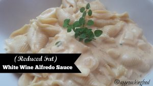Pasta with creamy white wine Alfredo sauce