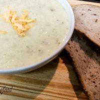 5-Minute Easy Cheesy Broccoli Baked Potato Soup