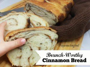 Slices of fragrant cinnamon bread!