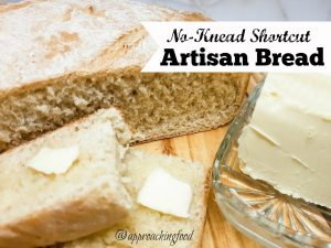 Freshly baked bread, sliced, and buttered!