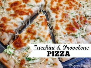 Slices of cheese pizza that just happen to contain zucchini!