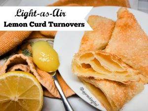 Luscious and flaky lemon curd turnovers